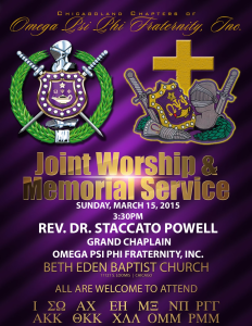 Joint Omega Memorial Service – 2015
