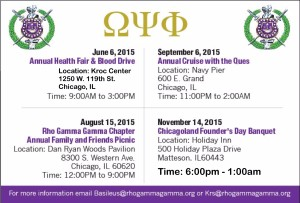 Save these Dates for Rho Gamma Gamma Ques