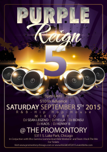 Purple Reign 5 Party @ the Promontory
