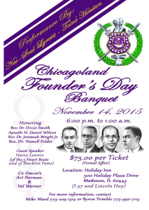 Chicagoland Omegas Joint Founders Banquet 2015 – 11/14/2015